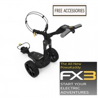 2020 Powakaddy FX3 Electric Golf Caddy - FREE ACCEESSORIES!
