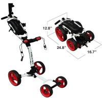 Axglo Flip N Go 4 Wheel Golf Push Cart