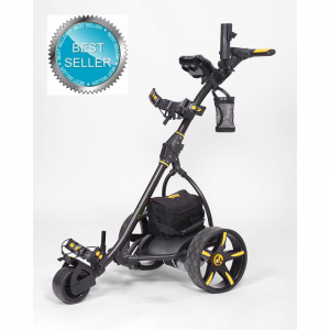 Electric Non Remote Golf Caddy - Bat Caddy X3 Model - Black Color - Front Side View Best Seller