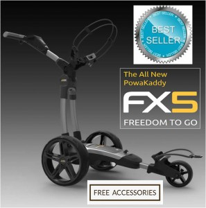 2020 Powakaddy FX5 Electric Golf Trolley - Best Seller - FREE Accessories Included!