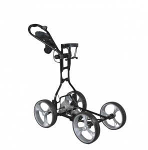 Electric Non Remote Golf Caddy - Clever Caddie Upright Caddy Electric Golf Push Cart (Black Color)