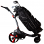 MGI ZIP X3 Lithium Electric Golf Caddy Trolley - Titanium Grey - Shown with Golf Bag and Clubs