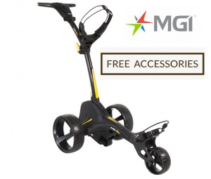 MGI ZIP X1 Lithium Electric Golf Caddy Trolley - Great Starter Buggy - Free Accessories