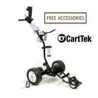 Remote Control Golf Trolley - Cart-Tek GRi-1350LH - Front Right Side View - FREE ACCESSORIES