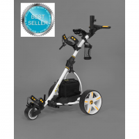 Remote Control Golf Caddy - Bat-Caddy X3R - White Color / Left Front Side