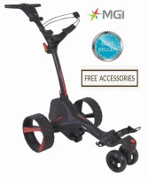 MGI ZIP X3 Lithium Electric Golf Caddy Trolley - Best Seller Black