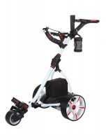 Electric Golf Caddy - Spin It Golf Easy Trek - White Color / Left Side View