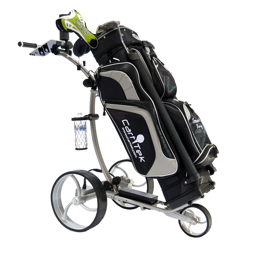 Golf Caddy Accessories Cart Tek Black Golf Bag On Cart Image