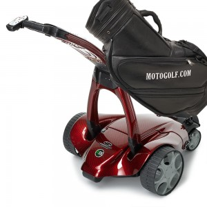 Stewart X9 Follow Signature Remote Golf Trolley - Red Carbon Fiber (special order)