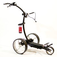 Electric Golf Trolley - Cart-Tek GR-950Li Black - Side View