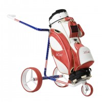 JuCad Carbon Travel Carbon Fiber Remote Controlled Trolley Special US Edition - With Golf Bag