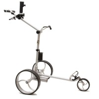 Cart-Tek GRX-970Li Silver Electric Golf Trolley - Side View