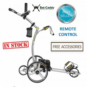 Remote Control Golf Caddy - 2019 Bat Caddy X4R Model - Best Seller - Silver Color_Free Accessories (In Stock)