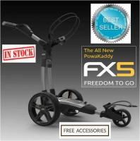 2020 Powakaddy FX5 Electric Golf Trolley - Best Seller - FREE Accessories Included! (IN STOCK!!)
