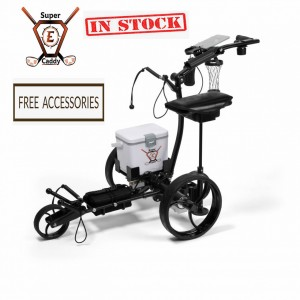 Super E Robotic Golf Caddy with Cooler Bag and FREE Accessories (In Stock)