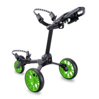 Stewart R1-S Push Cart - Black with Green Wheels