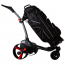 MGI ZIP X3 Lithium Electric Golf Caddy Trolley - Titanium Grey - Shown with Golf Bag