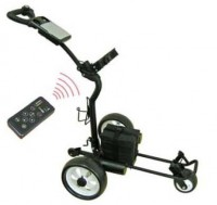 Golf Caddy - Caddytek CaddyCruiser RC900 White Model - Side View With Remote Control