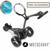2020 Motocaddy M3 Lithium Manually Controlled Electric Golf Caddy (Black) - Best Seller