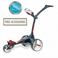 Motocaddy M1 Pro Lithium Manually Controlled Electric Golf Caddy (Black Frame) - Best Seller_Free Accessories