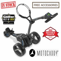 2020 Motocaddy M5 Connect Lithium Golf Caddy - Side View (Black) - Free Accessories (IN STOCK)