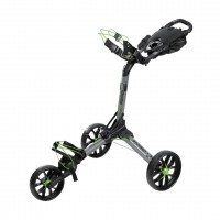 Bag Boy Nitron Auto Open Pushg Cart (Battleship Gray/Lime)