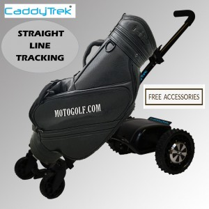Caddytrek S- Series Remote Control Lithium Electric Golf Caddy (Black Color) with Straight Line Tracking - Free Accessories