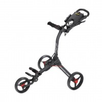 Bag Boy Compact 3 Push Cart (Matte Black/Red)