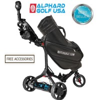 Alphard eWheels Club Booster Electric Push Cart Conversion Kit - Rear View - Best Seller (Free Accessory Promotion)