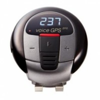 Golf Caddy Accessories - Voice GPS Pro Distance and Rangefinder - Black Color