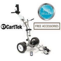 Remote Control Golf Trolley - Cart-Tek GRi-1350Li - Front Right Side View - BEST SELLER