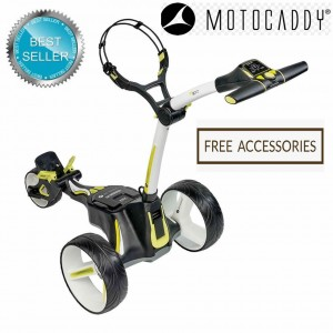 Motocaddy M3 Lithium Manually Controlled Electric Golf Caddy (White) - Best Seller