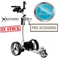 Electric Non Remote Golf Caddy - Bat Caddy X4 Sport Model White - Best Seller (In Stock)