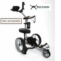 Electric Motorized Golf Caddy - Bat Caddy X8 Pro Model - Right Side View - Free Accessories