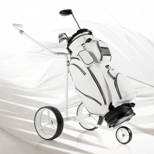 JuCad Drive SL Travel ex White Swan model with golf bag