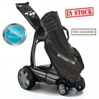 Stewart X9 Follow Remote Golf Trolley - Black Color - Free Accessories (BEST SELLER) In Stock!