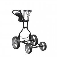 Clever Caddie Upright Caddy Golf Push Cart - Black