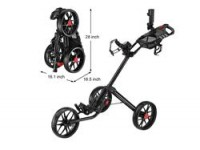 Golf Push Cart - Caddytek CaddyLite 15.3 Model -Side View and Folded View
