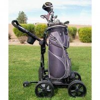 Remote Control Electric Golf Caddy - Upright Caddy RASR Cart With Bag