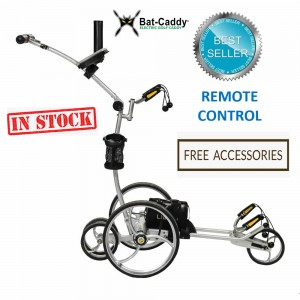 Remote Control Golf Caddy - Bat Caddy X8R Model Silver - Right Side View (REMOTE)_Free Accessories (IN STOCK)