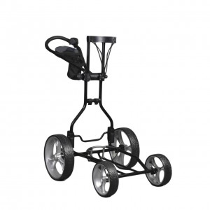 Clever Cad Upright Caddy Golf Push Cart - Black/Blue/Red ... on