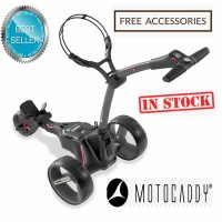 2020 Motocaddy M1 Pro Lithium Manually Controlled Electric Golf Caddy (Black Frame) - Best Seller (IN STOCK)