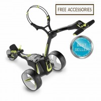 Motocaddy M3 Lithium Manually Controlled Electric Golf Caddy (Black) - Best Seller_Free Accessories