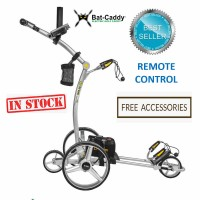 Remote Control Golf Caddy - 2019 Bat Caddy X4R Model - Best Seller Remote - Silver_Free Accessories (In Stock)