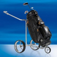 JuCad Drive SL Travel eX Titanium Golf Trolley With Bag