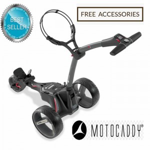 2020 Motocaddy M1 Pro Lithium Manually Controlled Electric Golf Caddy (Black Frame) - Best Seller