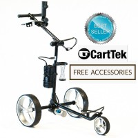 Cart-Tek GRX-965Li Black Electric Golf Trolley - Front Side - BEST SELLER