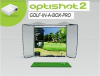 Optishot2 Golf In A Box Pro Package (HomeCourse Pro Retractable Golf Simulator Screen Enclosure)