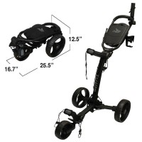 Axglo Trilite 3 Wheel Golf Push Cart